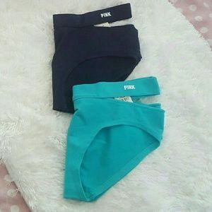 Victoria's Secret Intimates & Sleepwear - NTW PINK VS VICTORIA'S SECRET 2 Hipster Panties S